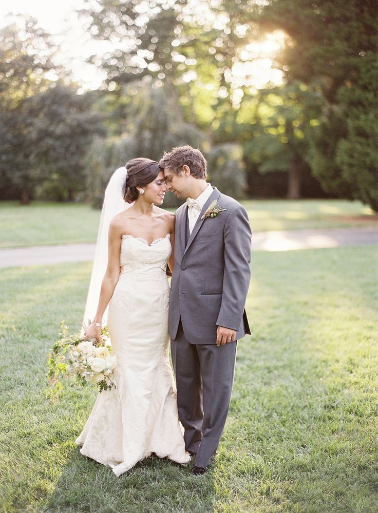 Outdoor Wedding at Merion Tribute House  Read more - http://www.stylemepretty.com/2014/03/19/outdoor-wedding-at-merion-tribute-house/