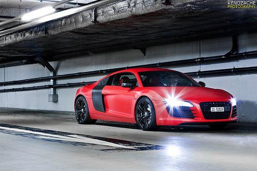 Carbon Matte Red R8 Audi