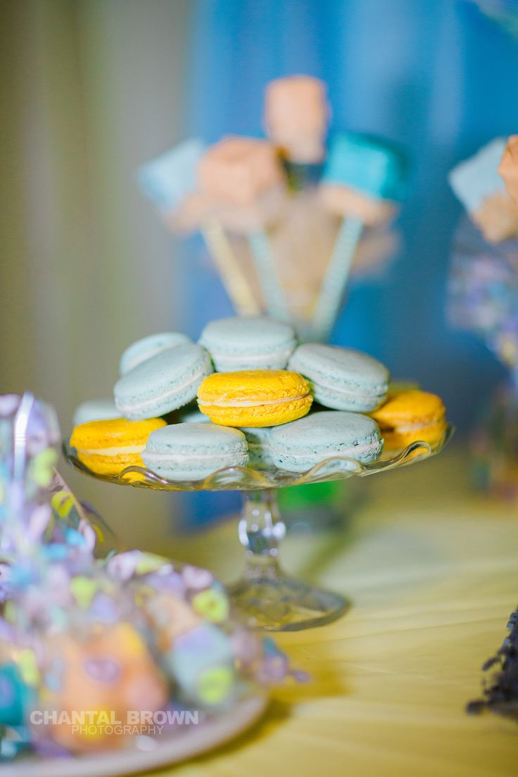 Homemade French macrons for baby shower.  Photo by Chantal Brown Photography.