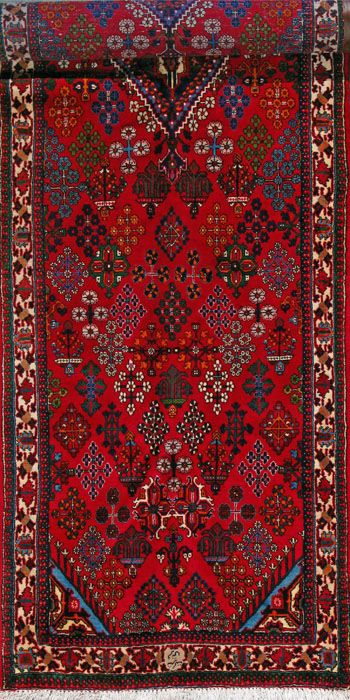 Maymeh Persian Rug Handmade 3 5 X 13 4 Authentic