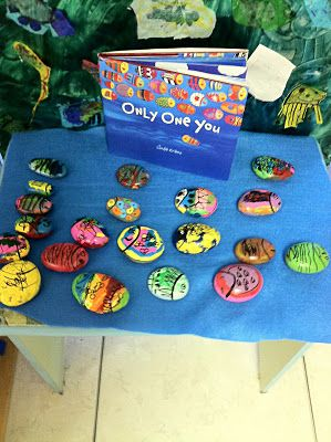only one you rock art-Start of year craft with buddy