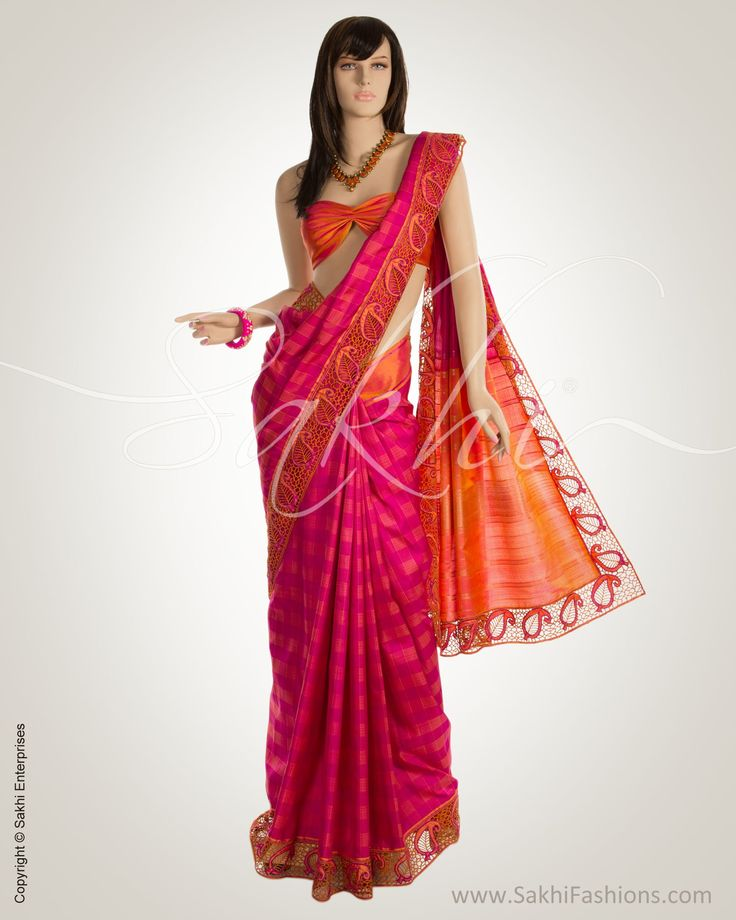 Pink & Peach Pure Kanchi Silk Saree