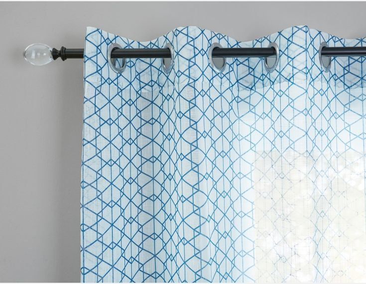 NESTON - Set of 2 curtain panels - Blue