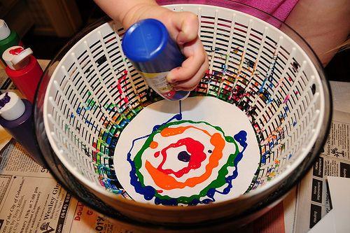 Pintar con una centrifugadora de verduras