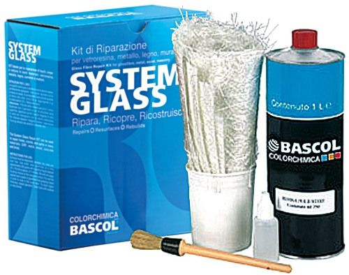 "Kit vetroresina ""SYSTEM GLASS"" Ripara, Ricopre, Ricostruisce... http://www.bricohouse.it/prodotto/kit-di-riparazione-vetroresina/"