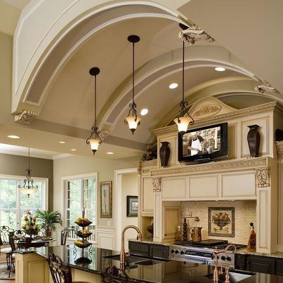 62 best luxurious homes images on pinterest for Elegant residences kitchens