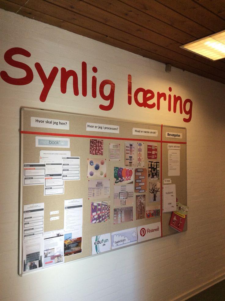 Opslagstavle til Inspiration og vidensdeling omkring Synlig Læring blandt kollegaer.