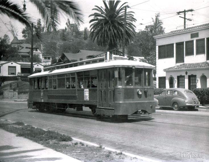 9 Line streetcar on Griffin Ave, Montecito Heights 1948