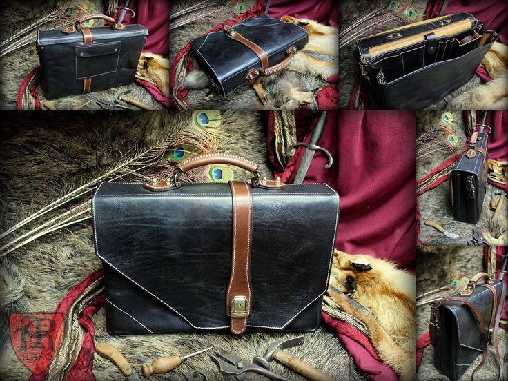Leather DYE bag case. Hand made by Pracownia REKO