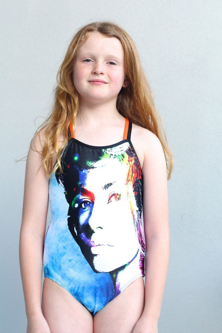 Girls Swimwear sublimated one piece featuring unique watercolour female design. by LaLaLaDesigns on Etsy