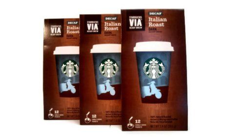 Starbucks VIA Ready Brew DECAF Italian Roast Coffee (3 Pack/Boxes) Total of 36 Packets * Visit the image link more details.