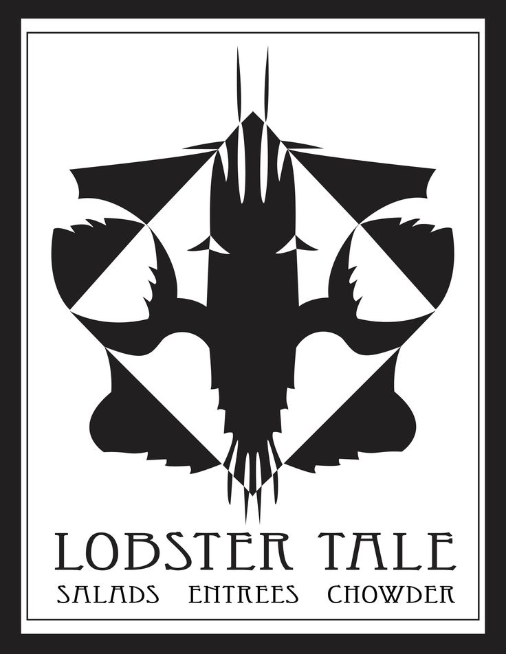 Lobster Tale seafood bistro menu cover