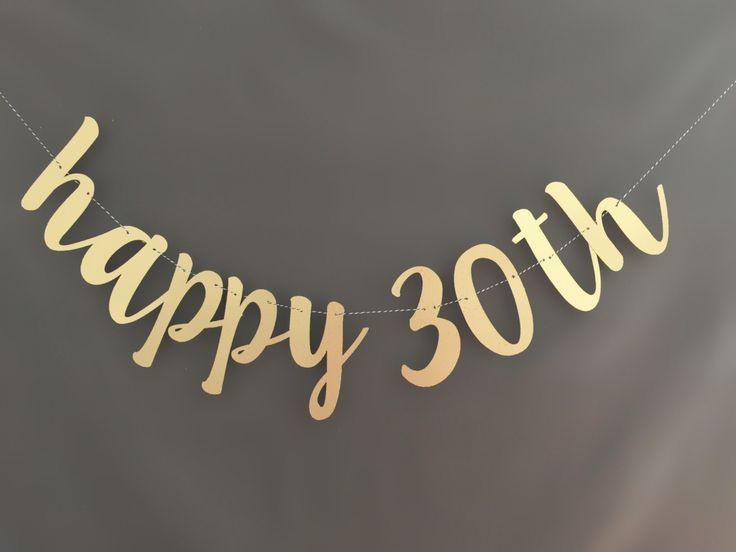 Happy 30th Birthday Banner