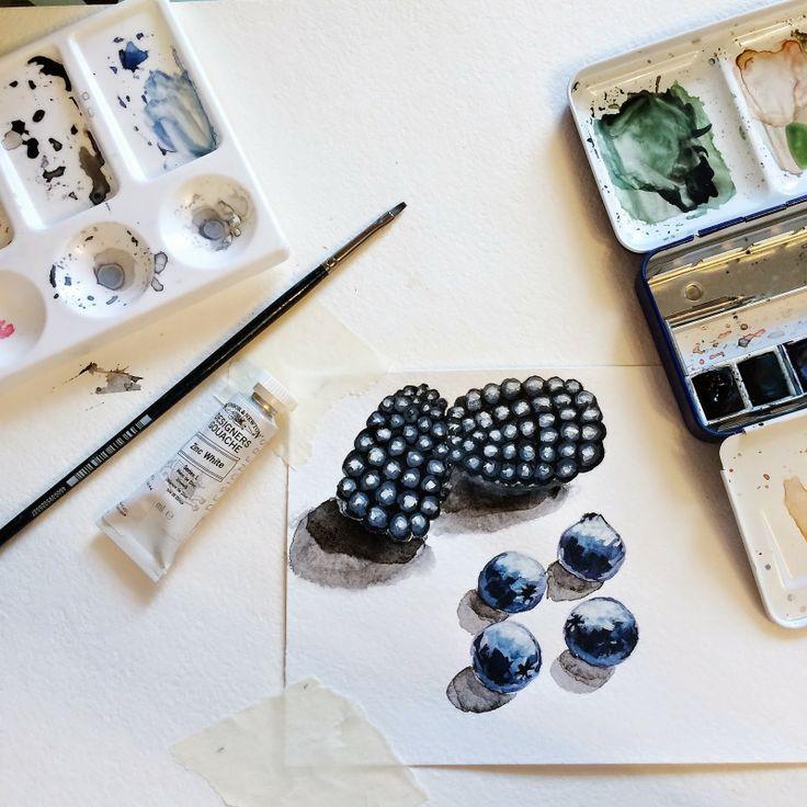 dasha zadorina craftidea: Акварель. Ягоды/Watercolor berries