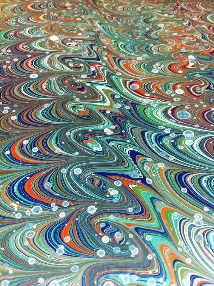 Ebru/marbled by Haluk Kurkcuoglu.
