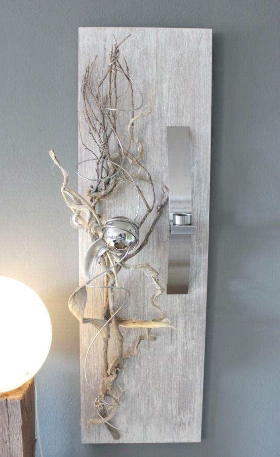 Awesome WD Elegante Wanddeko Neues Holz gebeizt und wei geb rstet nat rlich und edel dekoriert