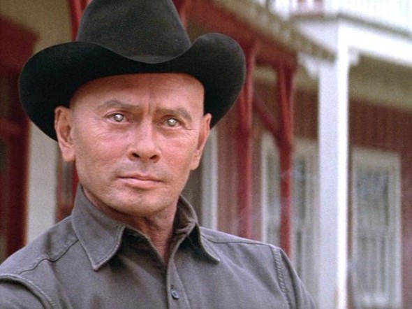 Yul Brynner played a great robot cowboy that went out of control in the 1973 film Westworld.