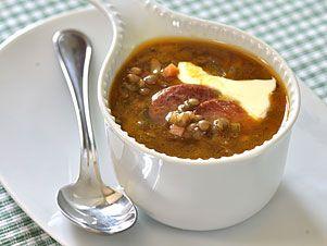 Francouzská čočková polévka