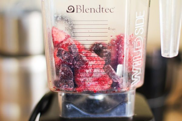 Anti-Inflammatory Smoothie with beets, turmeric, ginger, and strawberries