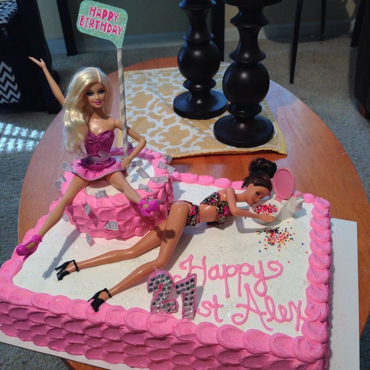 21st birthday drunk Barbie cake  C A K E  Pinterest  Toilets ...