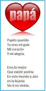 Poemas para el día del padre: Papito querido.