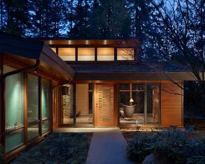Lake Forest Park Renovation, Modern Entry, Seattle