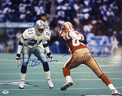 Jerry Rice & Deion Sanders Dual Signed 16 x 20 Photograph – Autographed NFL Photos