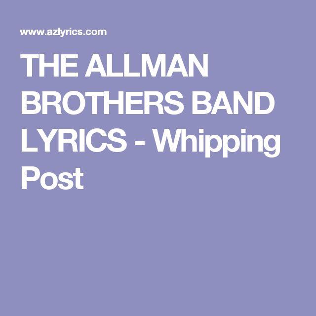 THE ALLMAN BROTHERS BAND LYRICS