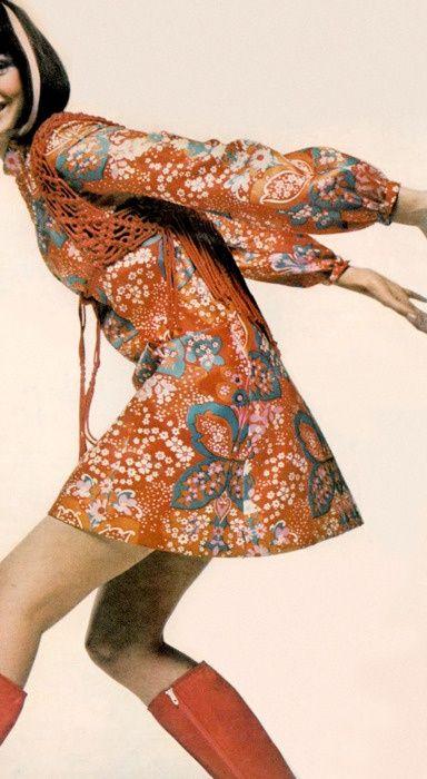 1960s Mini Dress and boots