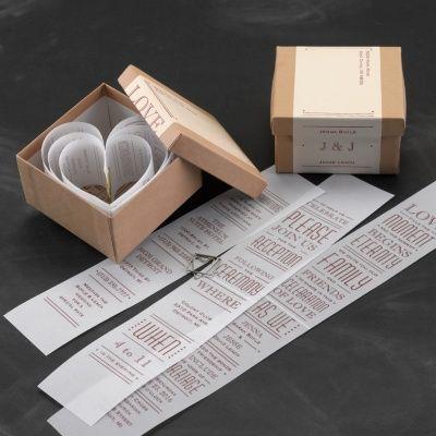 68 best Inspiration - Wedding invitations images on Pinterest - fresh invitation box