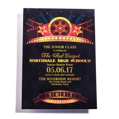 Vintage Hollywood Invitation