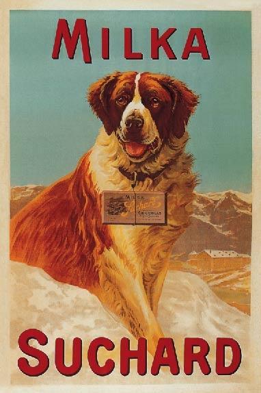 Swiss Chocolate poster 1930's....réépinglé par Maurie Daboux .•*`*•. ❥