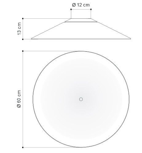 Contemporary ceiling light / round / aluminum / LED - KAPPA 5227 5228 - Egoluce
