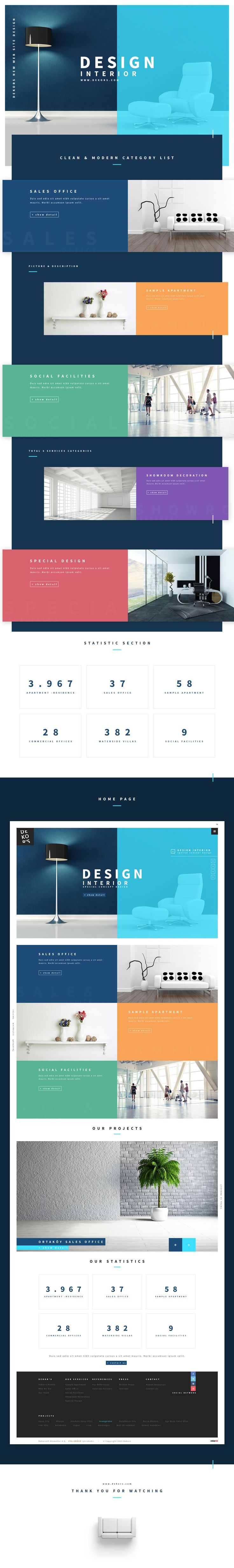 Dekor's New Web Site Design on Behance