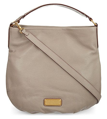 MARC BY MARC JACOBS New Q Leather Hobo Bag (Cement