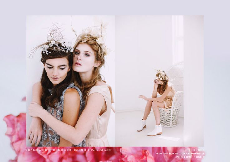 Editorial pretty dreamy Wedding inspo head pieces styling white boots
