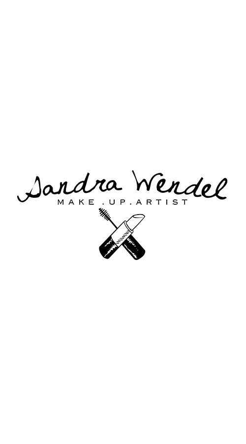 Black and white logo for a make-up Artist #logodesign #design - (love how the names curved & title is straight)