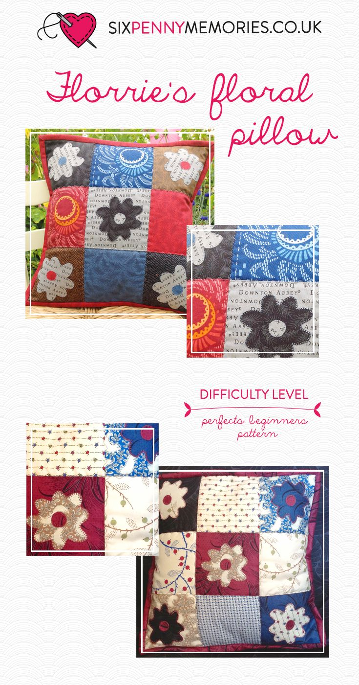 A floral pillow perfect for beginners