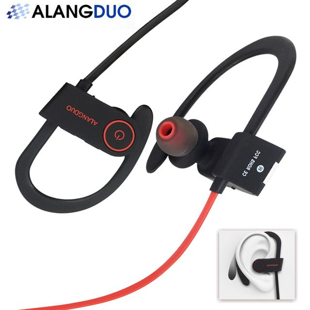 ALANGDUO Bluetooth Sports Wireless Earphone G6 With Build-in Mic Fone De Ouvido Bluetooth Handsfree Best Wireless Earphones