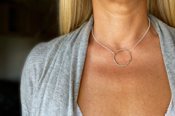 Silver and Gold LARGE Organic Circle KARMA by SoCoolCharms on Etsy