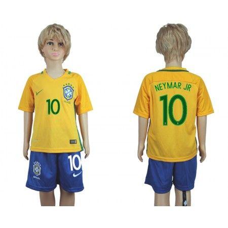 Brasilien Trøje Børn 2016 #Neymar JR 10 Hjemmebanetrøje Kort ærmer.199,62KR.shirtshopservice@gmail.com