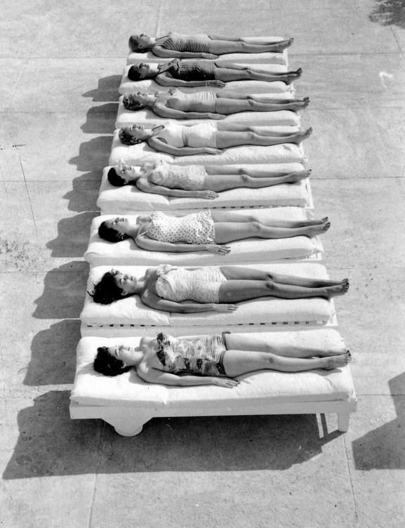 Sunbathing in Miami in 1956. Photo by Lisa Larson