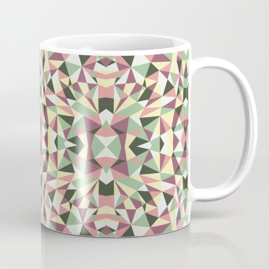 Abstract graphic with colorful shapes.