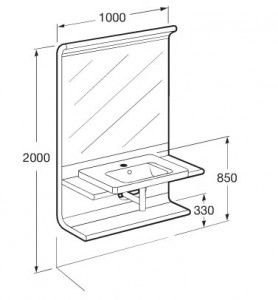 dimensiones mesa lavabo - bathroom vanitory height