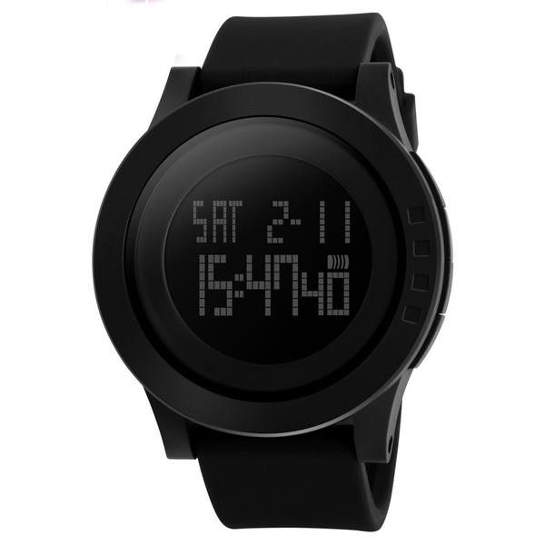 Item Type: Digital Wristwatches Case Material: Rubber Dial Window Material Type: Hardlex Water Resistance Depth: 5Bar Movement: Digital Dial Diameter: 52 mm Clasp Type: Buckle Boxes & Cases Material: