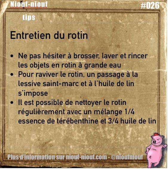 Tips Niouf-niouf : l'entretien des objets en rotin #rotin #entretien #truc #astuces #nettoyage