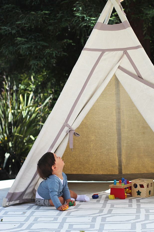 Our teepee is the perfect setting for an outdoor first birthday party