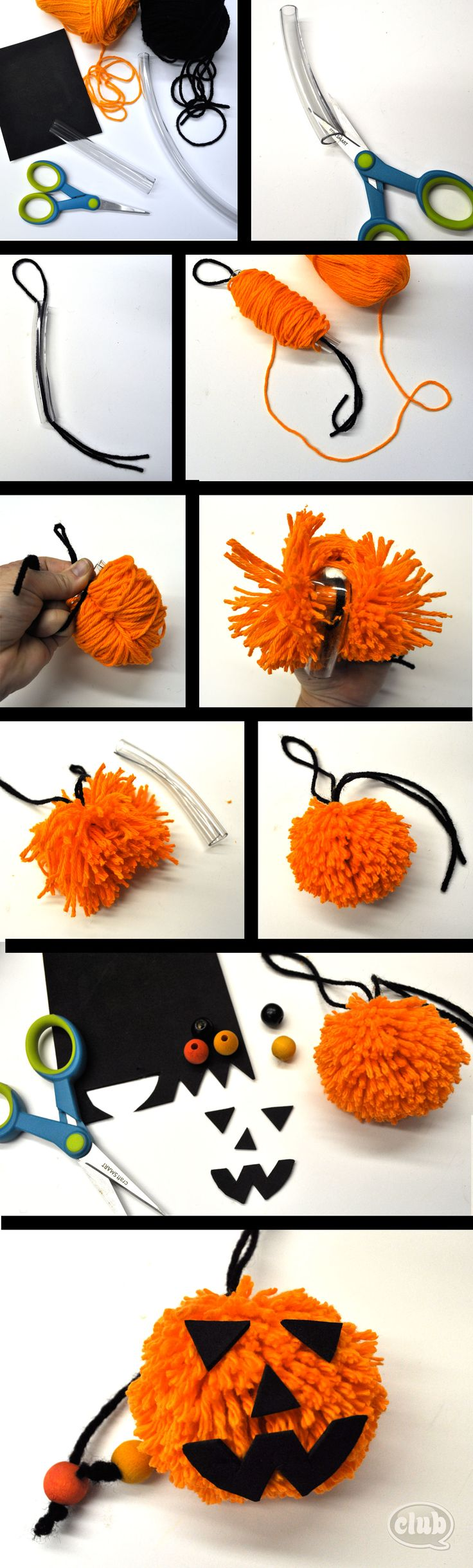 Pumpkin Pom Pom DIY | Tween Crafts - Connecting Mom and Daughter through crafting