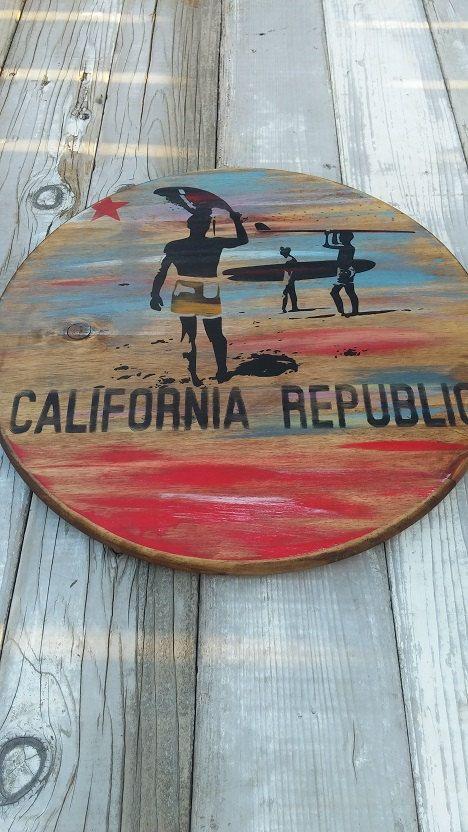 California Flag Endless Summer Surfer Theme by CaliforniaRustic