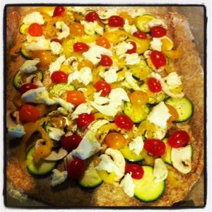 Easy healthy pizza #recipe